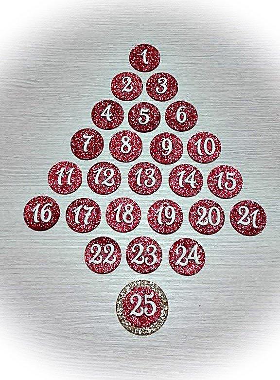 Numeri per calendario dell'Avvento fai da te