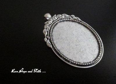 NOVITA'! Base cabochon color argento (bcod.341)