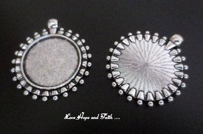 NOVITA'! Base cabochon color argento (dcod.419)