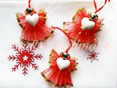 3 angioletti addobbi per albero di Natale