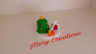 Statuetta decorativa natalizia in fimo