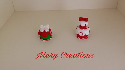 Mini cake design natalizie, fimo, segnaposto