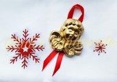 Angiolettio doratio decorazione per albero di Natale