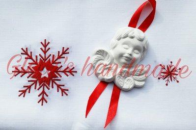 Angioletto bianco decorazione per albero di Natale