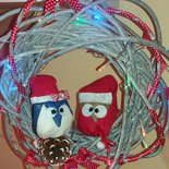 Ghirlanda natalizia gufetti