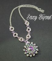 SAZY FOR YOU: Collana in tessitura di perline con Cristalli Swarovski