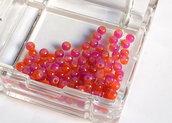 20 Perle di vetro ROSSO 4 mm PRL 383