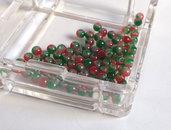 20 Perle di vetro MELANGE 4 mm PRL 384