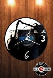 orologio da parete chitarre