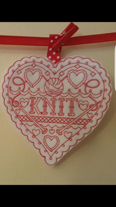 Cuore Knit Amore per la maglia