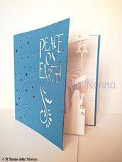 """BIGLIETTO AUGURI NATALE """"PEACE ON EARTH"""" (art.102)"""
