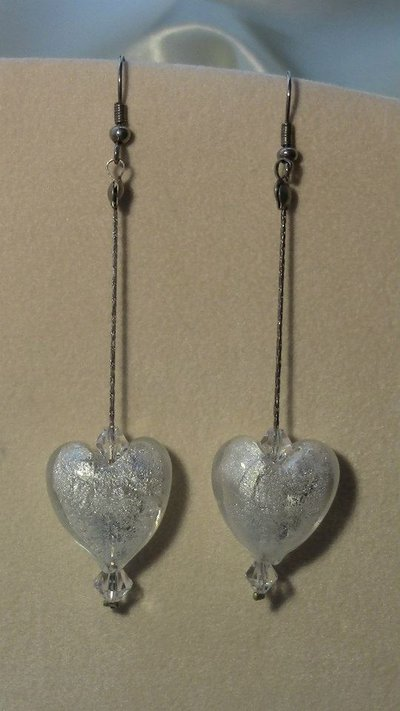 Orecchini pendenti Swarovski cuore