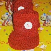 Scarpette scarpine stivaletti Ugg neonato uncinetto rosso regalo  Natale