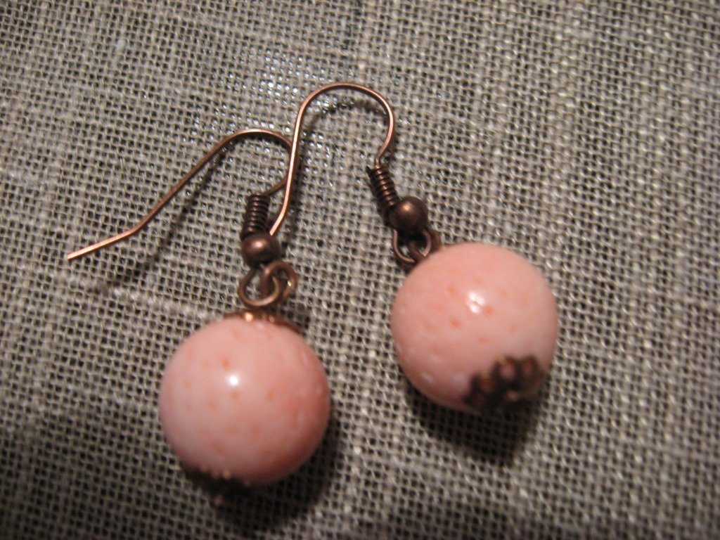 orecchini madrepora rosa