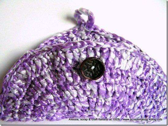 Borsetta realizzata a crochet uncinetto con filato di plastica riciclata -  SPEDIZIONE GRATIS
