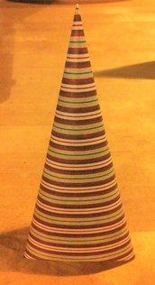 decorazione albero di natale cartoncino serie UNO NE HAI UN ALTRO LO FAI a righe colori natalizi