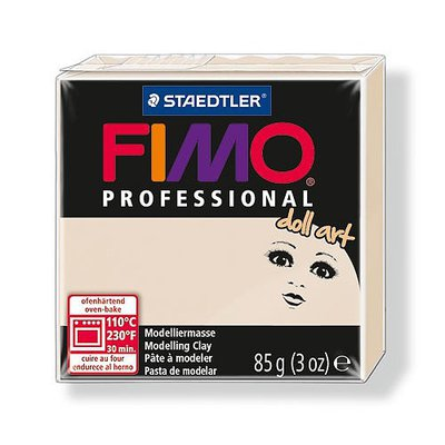 OFFERTISSIMA! 1 panetto FIMO PROFESSIONAL DOLL ART color BEIGE SEMI OPACO n° 44  (85 gr)