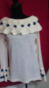 golf maglia donna lana maglia bianca