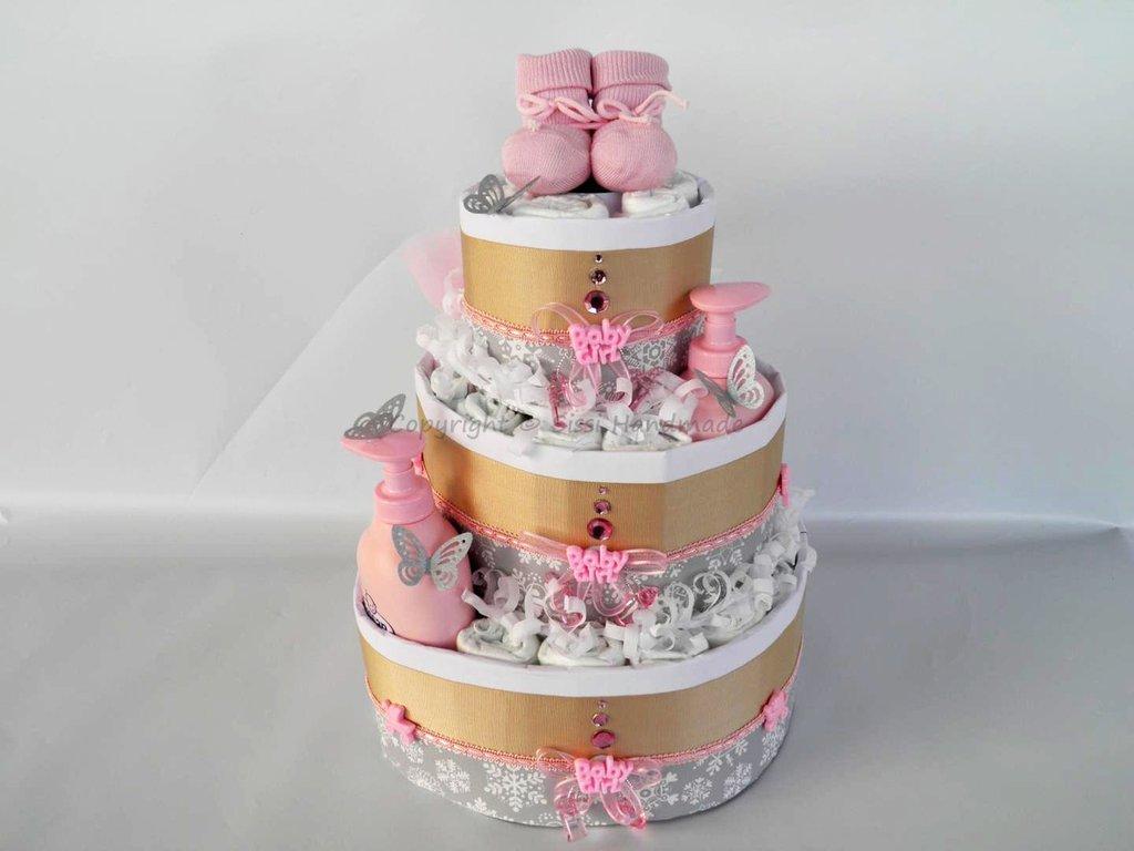 Preferenza Torta di pannolini di benvenuto per nascita bimba - Bambini  WR71