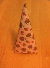 decorazione albero di natale cartoncino serie UNO NE HAI UN ALTRO LO FAI con fantasie stelle di natale su sfondo rosa