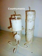 set di candele shabby
