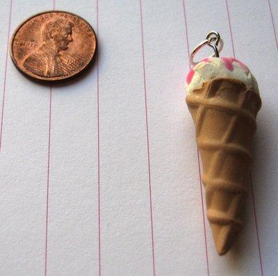 Vanilla Ice Cream Cone Charm