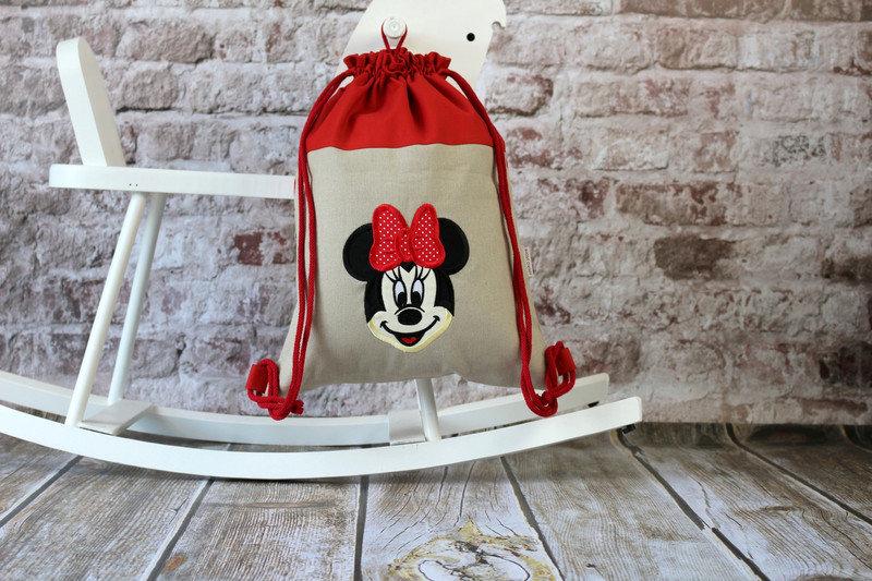 Zaino personalizzata. - Zaino con nome. Minnie Mouse