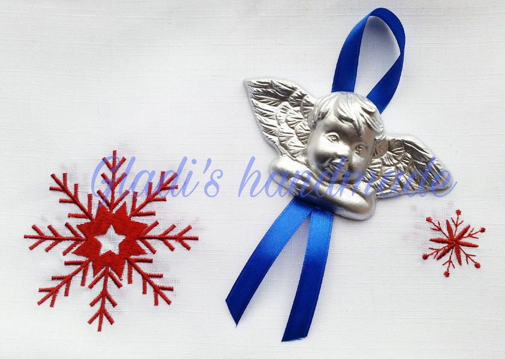 Angioletti argentato  decorazione per albero di Natale