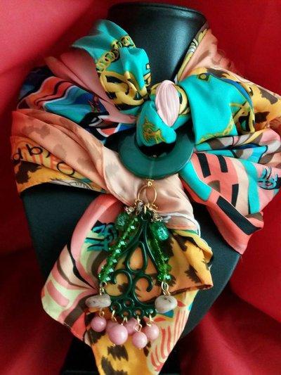 foulard gioiello multicolor