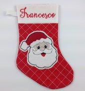 Calza Babbo Natale personalizzata con nome - Lungh.cm.29