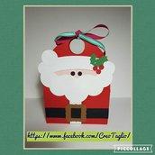3d Santa Christmas box tote