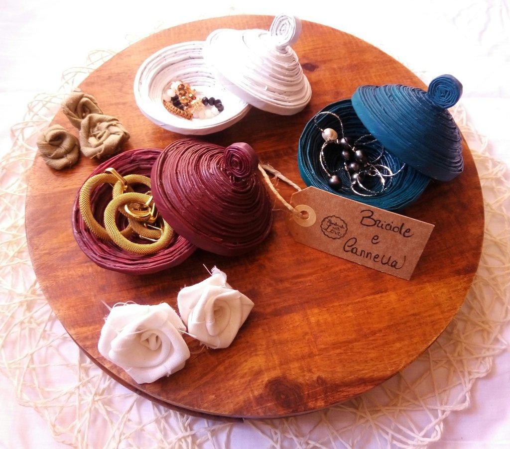 Cestini porta oggetti per la casa e per te decorare - Cestini porta bomboniere ...
