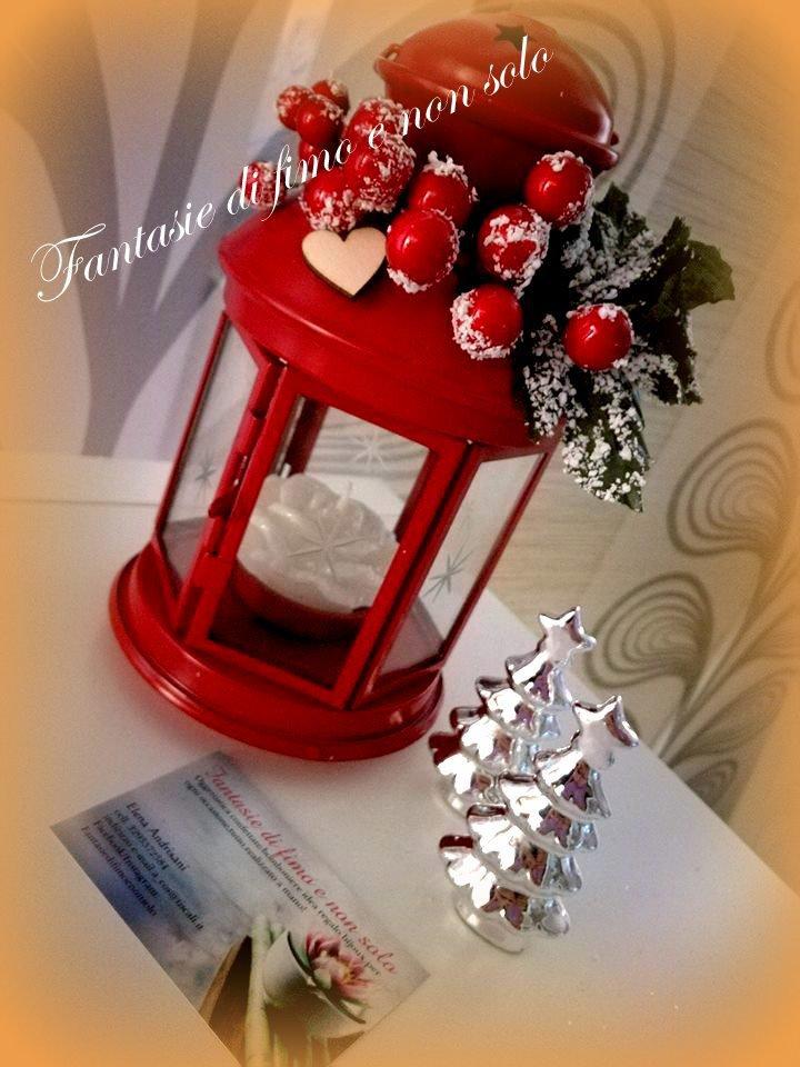 Lanterna decorata natalizia