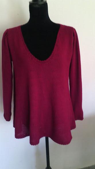 maglia donna lana giro collo