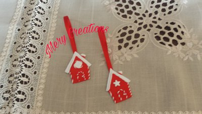 Casetta decorativa natalizia, fimo