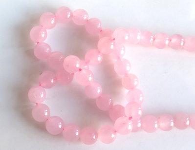 20 Perle di vetro rosa 4 mm PRL324 bis