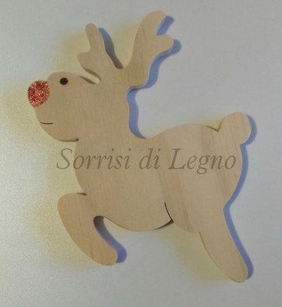 Renna buffa in legno di pino fenolico decoro per le feste