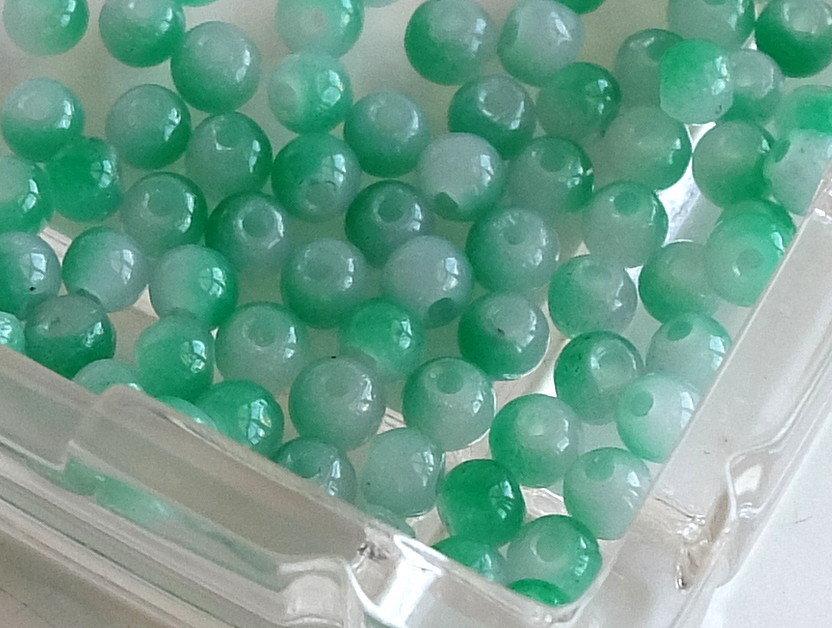 20 Perle di vetro MELANGE 4 mm PRL 406