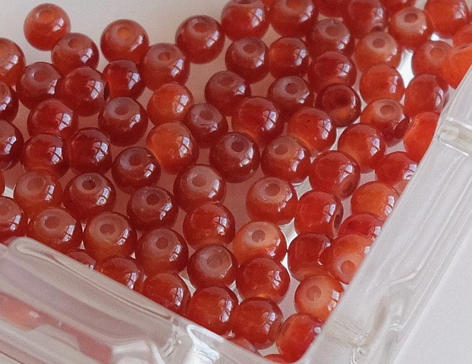 20 Perle di vetro MELANGE 4 mm PRL 407