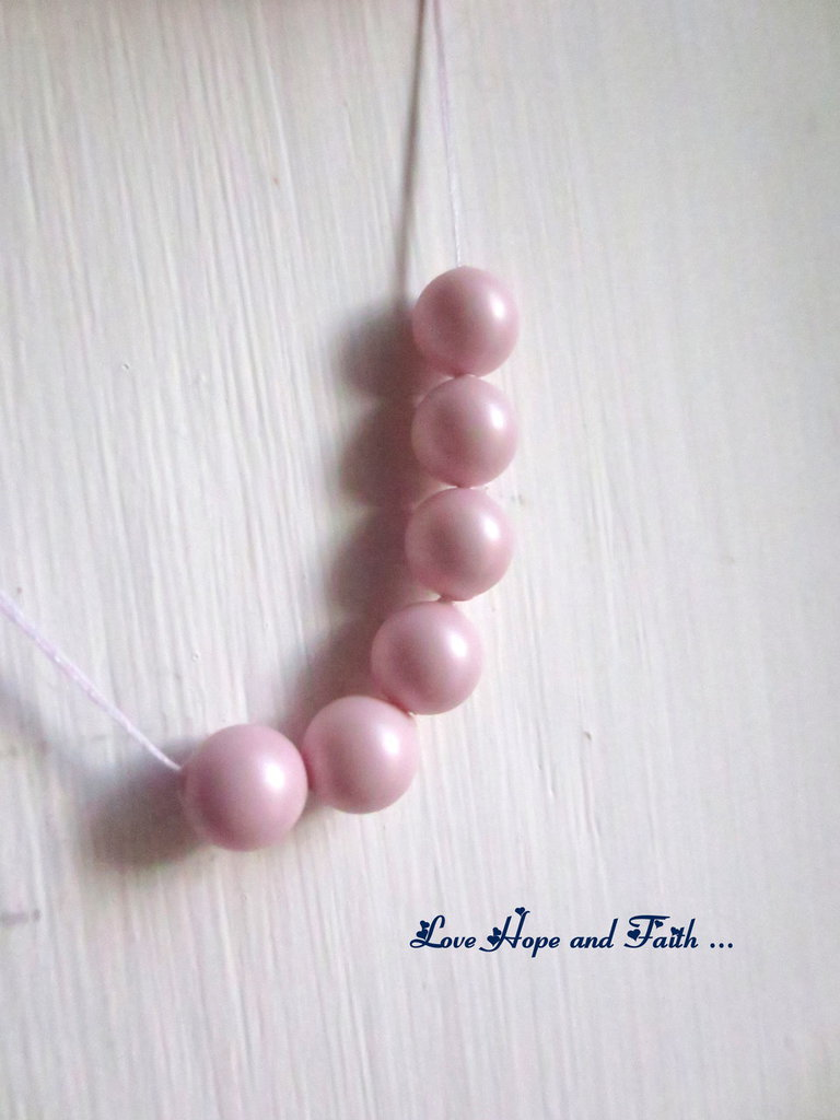 "LOTTO 10 perle ""Pastel Rose Pearl"" (6 mm) (cod. S5810)"