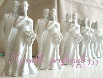 sposi in gesso ceramico