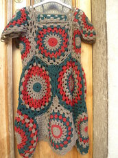 vestito-scamiciato-gilè lungo,pezzo veramente unico
