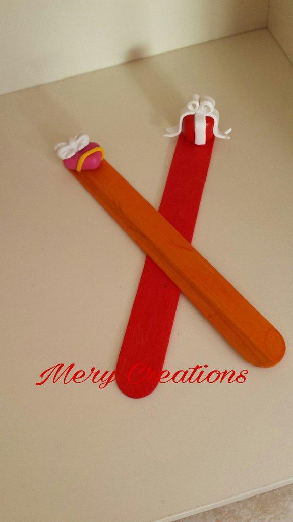 Segnaposto natalizio in fimo, segnalibro