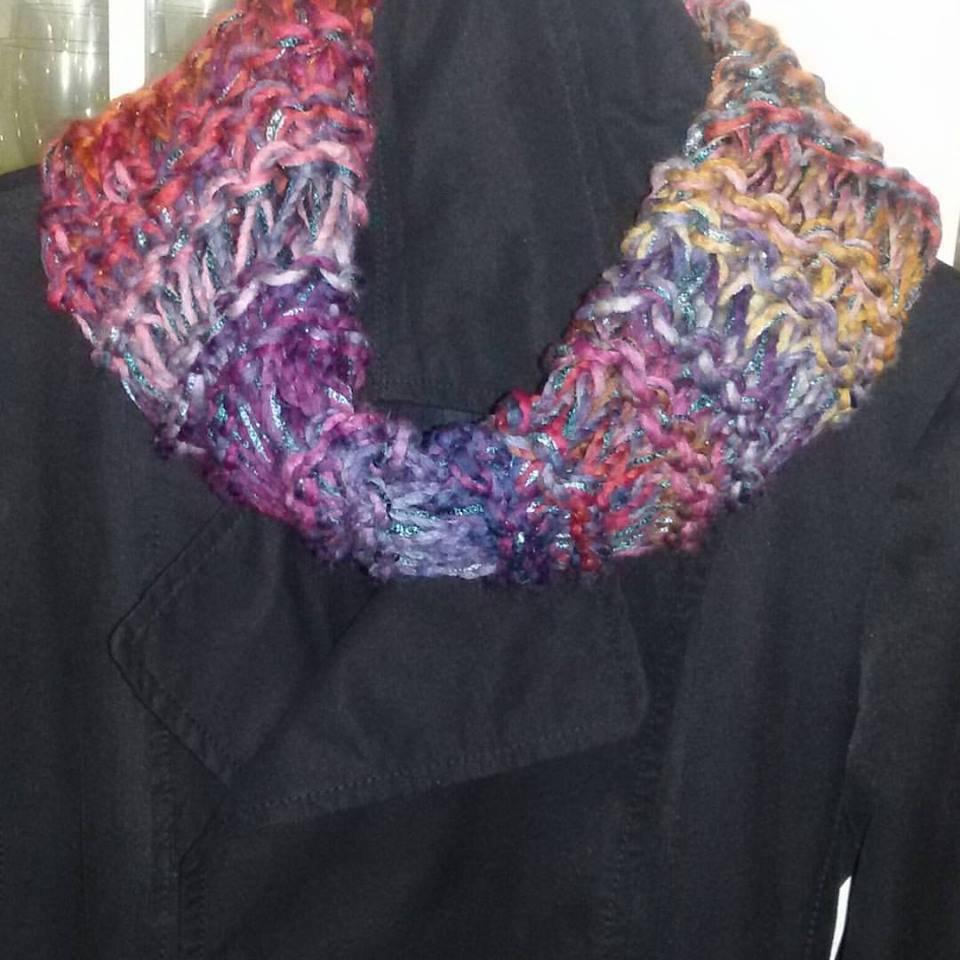Scaldacollo ad anello sciarpa fatta a mano handmade