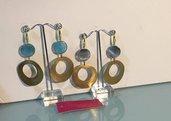 orecchini con base ottone a forma di cerchio (piccolo)