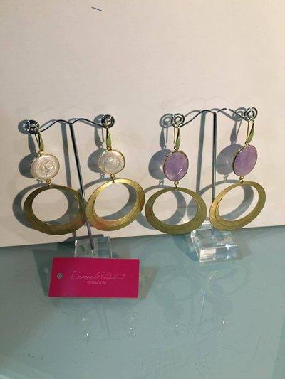orecchini con base ottone a forma di cerchio (grande)