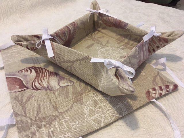 Coppia di Cestini multiuso, porta oggetti~porta pane~porta tovaglioli~svuotatasche