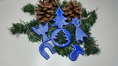 Set decorazioni natalizie 6 pezzi