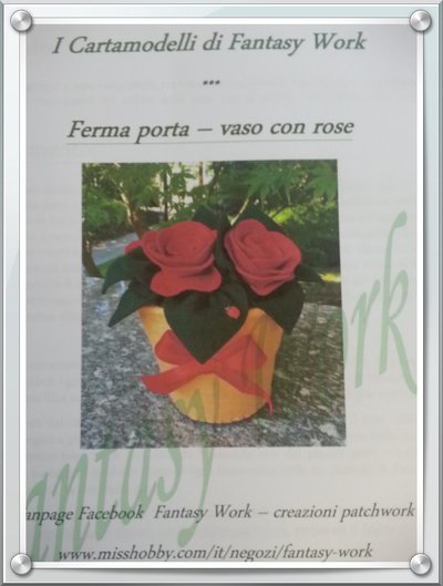 TUTORIAL ferma porta vaso di fiori - versione cartacea