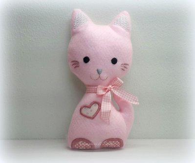 Gatto rosa in morbido pannolenci